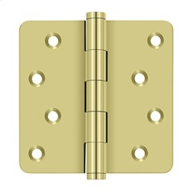 "4""x 4""x 1/4"" Radius Hinges / Zig-Zag - Polished Brass"