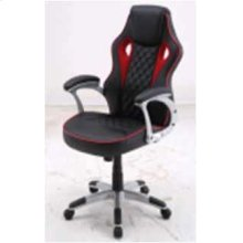 Contemporary Black/red-high Back Office Chair