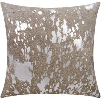 """Couture Nat Hide S6129 Grey Silver 18"""" X 18"""" Throw Pillow Product Image"""