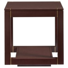 Panavista Floating Parsons End Table in Garnet