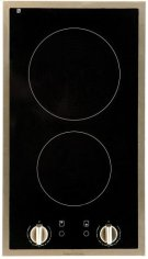 "12"" (30cm) electric ceramic cooktop with stainless steel trim Product Image"