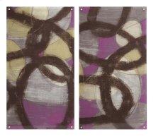 Fuchsia Links Acrylic Floating Wall Art - Ast 2