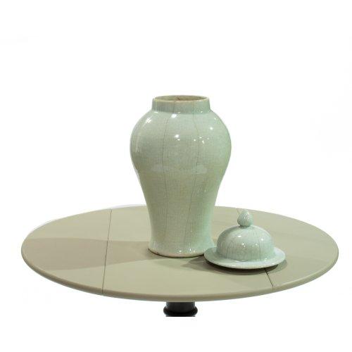Celadon Crackle Temple Jar, Large
