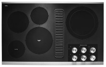 """36"""" Electric Downdraft Cooktop with 5 Elements - Stainless Steel"""