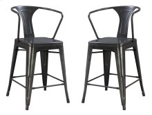 "Emerald Home Dakota III 24"" Bar Stool Gunmetal Gray D131-24"