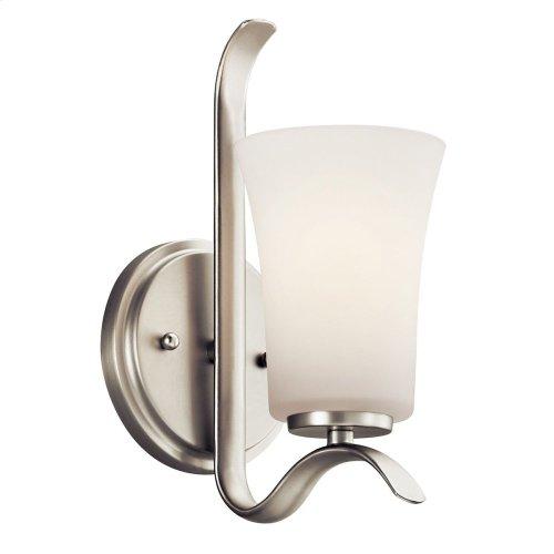 Armida 1 Light Wall Sconce with LED Bulb Brushed Nickel
