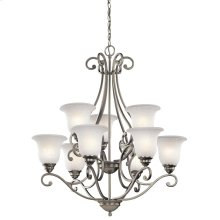 Camerena Collection Camerena 9 Light Chandelier - Brushed Nickel