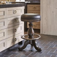 Davis Swivel Counter Stool - Dark