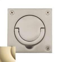 Lifetime Polished Brass Flush Ring Pull