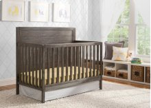Cambridge Mix and Match 4-in-1 Convertible Crib - Rustic Grey (084)