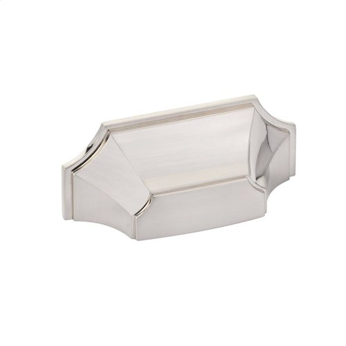 """Empire, Cup Pull, 3"""" cc, Brushed Nickel finish"""