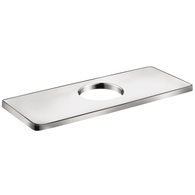 Chrome Base Plate for Modern Single-Hole Faucets, 6""