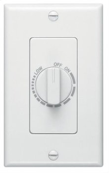 Variable Speed Wall Control in White; Ventilation Fans