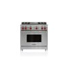 "Wolf 36"" Gas Range - 4 Burners And Infrared Griddle"