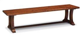 Alexandria Dining Bench, Wood Seat