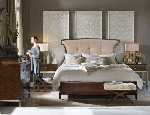 Skyline California King Upholstered Panel Bed