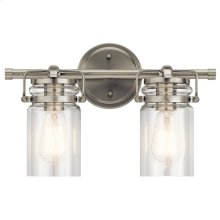 Brinley 2 Light Vanity Light Brushed Nickel