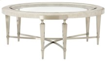 Domaine Blanc Round Cocktail Table in Domaine Blanc Dove White