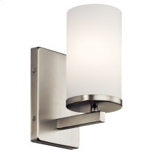 Crosby 1 Light Wall Sconce Brushed Nickel