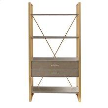 Oasis-Harwell Bookcase in Grey Birch
