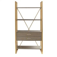 Oasis-Harwell Bookcase in Grey Birch