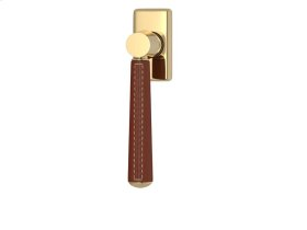 Tube Stitch Out Combination Leather In Chestnut And Polished Brass