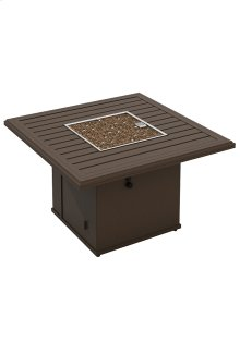"Banchetto 42"" Square Fire Pit, Manual Ignition"