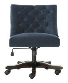 Soho Tufted Velvet Swivel Desk Chair - Navy
