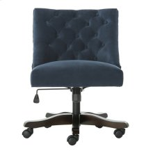 Soho Tufted Velvet Swivel Desk Chair - Navy