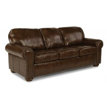 Preston Leather Queen Sleeper with Nailhead Trim