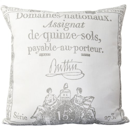 "Montpellier LG-508 22"" x 22"" Pillow Shell with Polyester Insert"