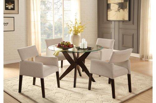 Arm Chair, Beige Fabric
