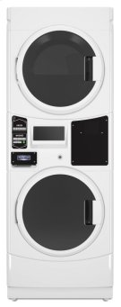 Commercial Electric Super-Capacity Stack Washer/Dryer, Card Reader Ready, Non-Vend Product Image