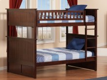 Nantucket Bunk Bed Full over Full in Walnut