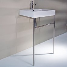 "Floor-standing stainless steel console stand with a towel bar for 5030 washbasin. It must be attached to a wall., 21 1/4""W, 17 5/8""D, 31""H"