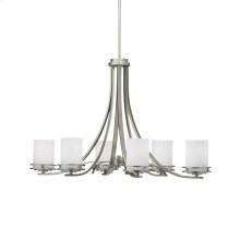 Hendrik Collection Hendrik 6 Light Chandelier - Brushed Nickel