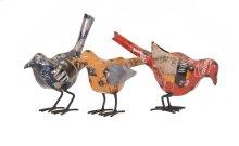 Reclaimed Metal Birds - Ast 3