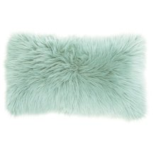 """Fur Fl101 Seafoam 1'2"""" X 2' Throw Pillows"""