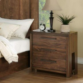 Terra Vista - Three Drawer Nightstand - Casual Walnut Finish