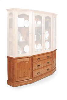 Classic Canted Hutch Base, Classic Canted Hutch Base, 74""