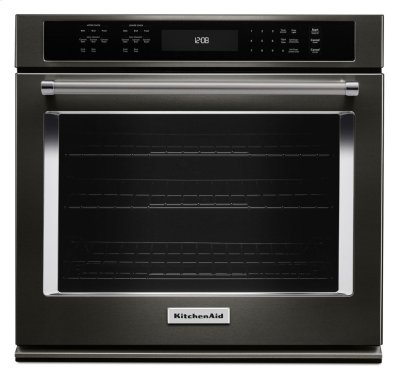 """30"""" Single Wall Oven with Even-Heat True Convection - Black Stainless Product Image"""