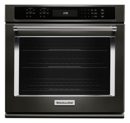 """30"""" Single Wall Oven with Even-Heat True Convection - Black Stainless"""