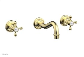 HENRI Wall Tub Set - Cross Handle 161-56 - Polished Brass Uncoated