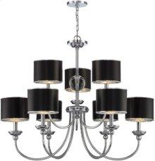 3/6-lite Ceiling Lamp, Chrome/black Paper Shade, E12 B 40wx9