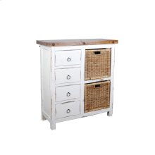CC-CAB2228TLD-WWSV-B  Cottage Whitewashed Basket Cabinet