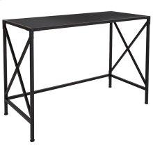 Tiverton Collection Industrial Style Computer Desk in Dark Ash