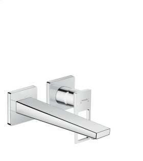 Chrome Wall-Mounted Single-Handle Faucet Trim with Loop Handle, 1.2 GPM