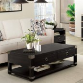 Myra - Caster Coffee Table - Sable Finish
