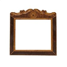 """Mirror : 39"""" x 43"""" x 4"""" Cowhide Collection"""