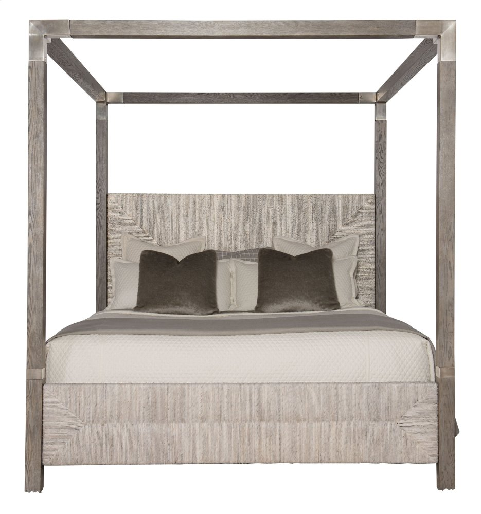 King-Sized Palma Canopy Bed in Rustic Gray  sc 1 st  Factory Furniture & 369HF59P59R59MTL in by Bernhardt Interiors in Mauldin SC - King ...